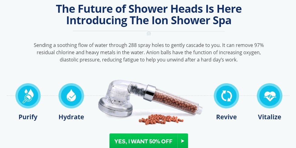 Ion Spa Shower Price
