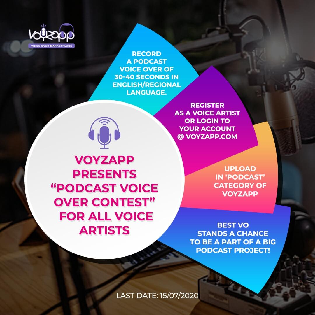 Be The Voice Of The Top Podcast Of The Nation Through Voyzapp